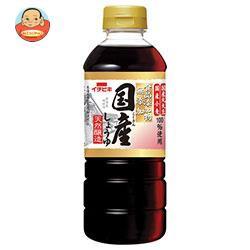 送料無料 【2ケースセット】イチビキ 無添加国産しょうゆ 500mlペットボトル×8本入×(2ケース)
