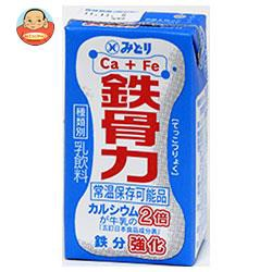 送料無料 【2ケースセット】九州乳業 鉄骨力 125ml紙パック×36本入×(2ケース)
