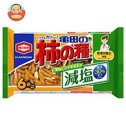 送料無料 亀田製菓 減塩亀田の柿の種 6袋詰 182g×12袋入