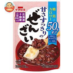 【送料無料】イチビキ 甘さすっきりの糖質・カロリー50%オフぜんざい 160g×20(10×2)袋入