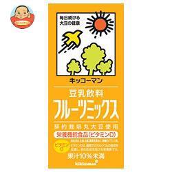 送料無料 【2ケースセット】キッコーマン 豆乳飲料 フルーツミックス 1000ml紙パック×12(6×2)本入×(2ケース)