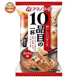 送料無料 アマノフーズ フリーズドライ 10品目の一杯 あかねの椀(赤みそ) 10食×6箱入