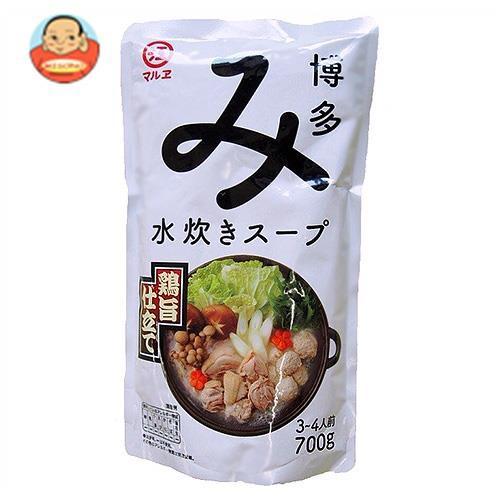 送料無料 マルエ醤油 博多水炊きスープ 鶏旨仕立て 700g×12袋入