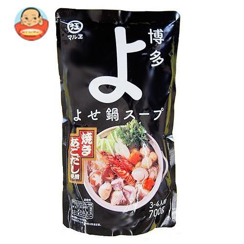 送料無料 【2ケースセット】マルエ醤油 博多よせ鍋スープ 700g×12袋入×(2ケース)
