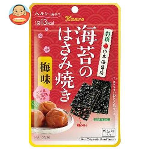 送料無料 カンロ 海苔のはさみ焼き梅味 4.4g×12袋入