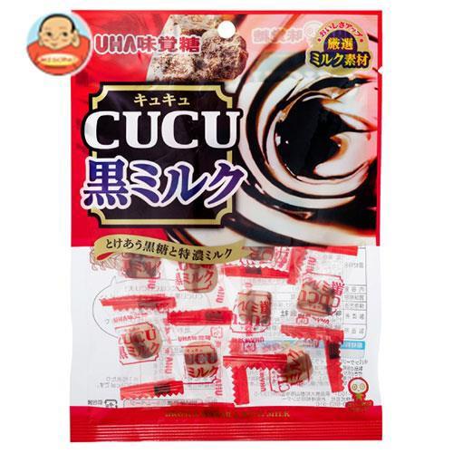送料無料 UHA味覚糖 CUCU(キュキュ) 黒ミルク 80g×6袋入