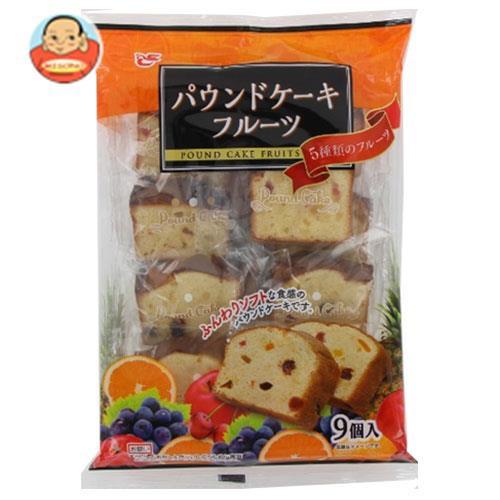 送料無料 エースベーカリー パウンドケーキフルーツ 9個×8袋入