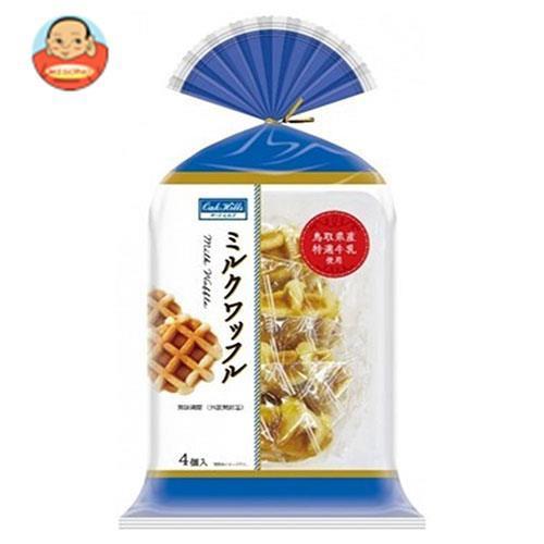 送料無料 【2ケースセット】丸中製菓 ミルクワッフル 4個×6袋入×(2ケース)