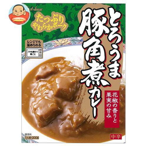 送料無料 ハウス食品 とろうま豚角煮カレー 200g×30個入