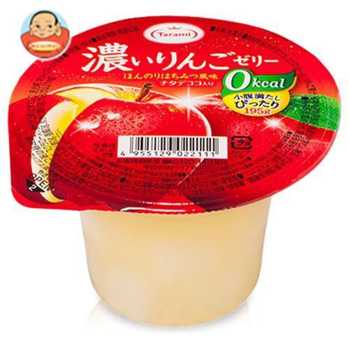 【送料無料】【2ケースセット】たらみ 濃いゼロカロリー 濃いりんごゼリー0kcal 195g×24(6×4)個入×(2ケース)