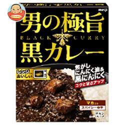 送料無料 明治 男の極旨 黒カレー 180g×30箱入