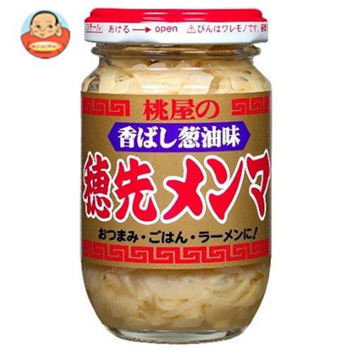 送料無料 桃屋 香ばし葱油味 穂先メンマ 115g瓶×12本入