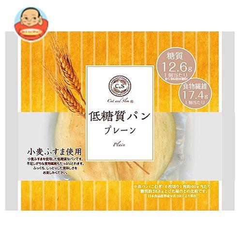 送料無料 【2ケースセット】ピアンタ Cut and Slim (カットアンドスリム) 低糖質パン プレーン 12個入×(2ケース)