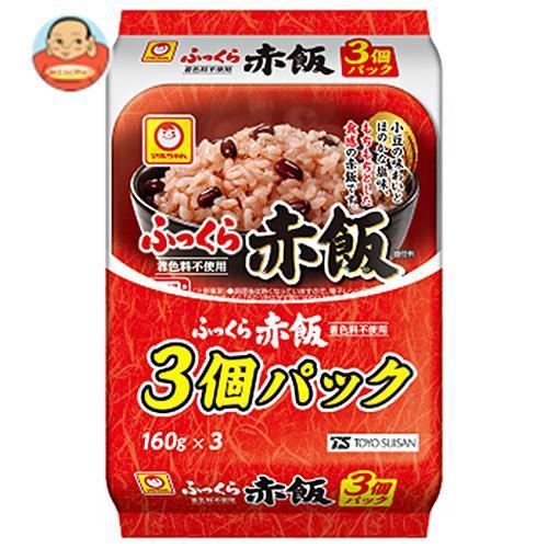 送料無料 東洋水産 ふっくら赤飯 3個パック (160g×3個)×8個入