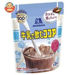 送料無料 森永製菓 牛乳で飲むココア 200g袋×24(12×2)袋入