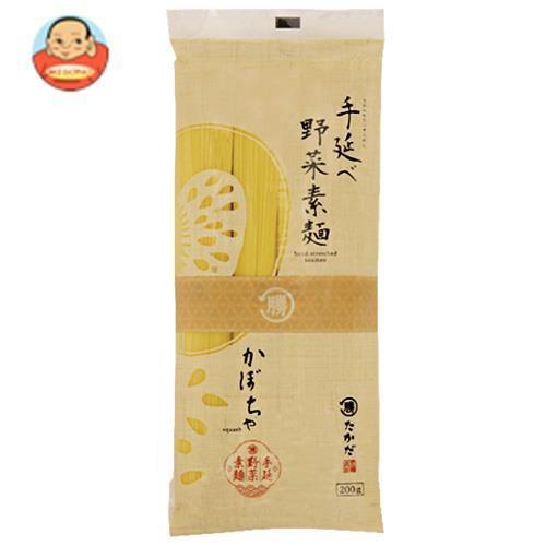 送料無料 マル勝高田 手延べ野菜素麺 かぼちゃ 200g×20袋入