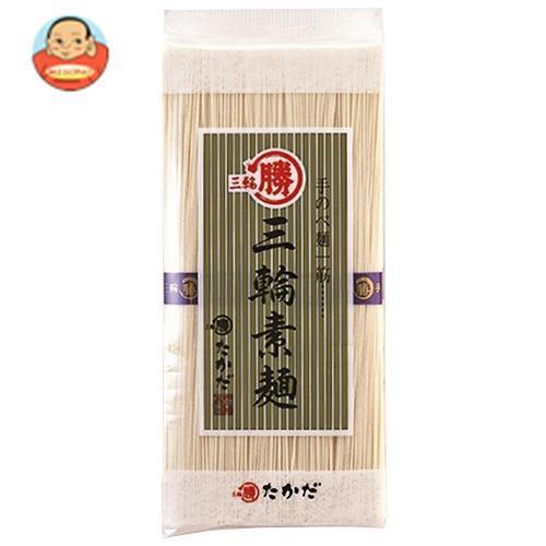 送料無料 【2ケースセット】マル勝高田 三輪素麺 大判 500g×20個入×(2ケース)