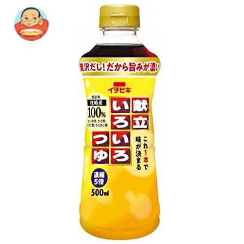 送料無料 【2ケースセット】イチビキ 献立いろいろつゆ 500mlペットボトル×8本入×(2ケース)