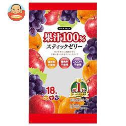 送料無料 【2ケースセット】リボン 18本果汁100% スティックゼリー 18本×12袋入×(2ケース)