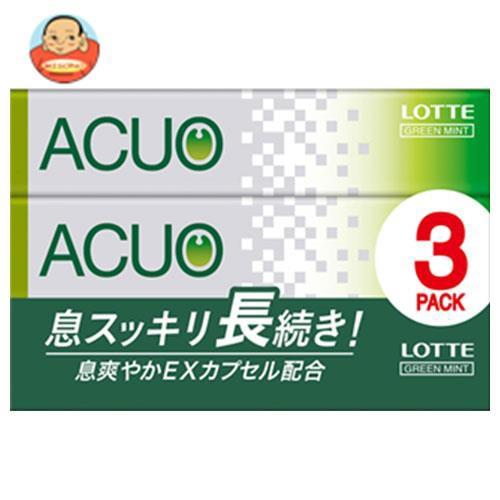 送料無料 【2ケースセット】ロッテ ACUO(アクオ) グリーンミント 3P×10個入×(2ケース)