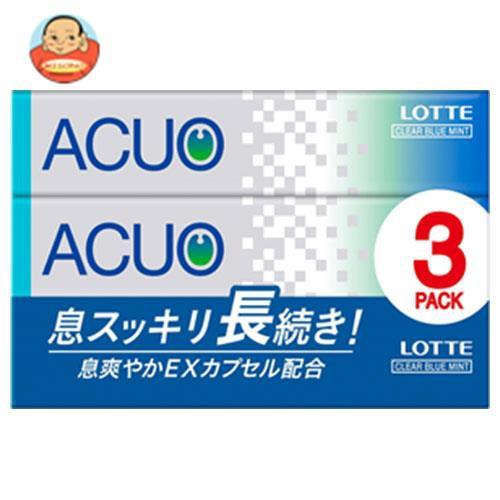 送料無料 【2ケースセット】ロッテ ACUO(アクオ) クリアブルーミント 3P×10個入×(2ケース)