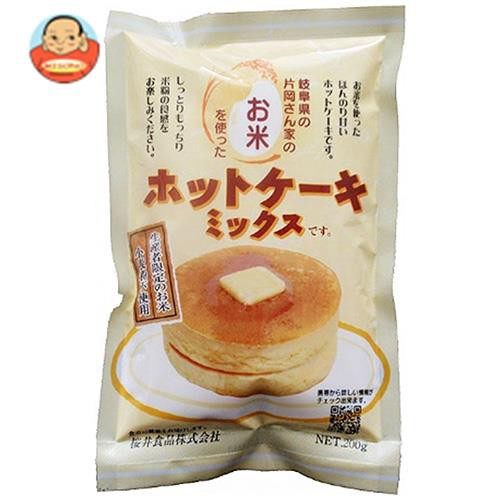 送料無料 【2ケースセット】桜井食品 お米のホットケーキミックス 200g×20袋入×(2ケース)