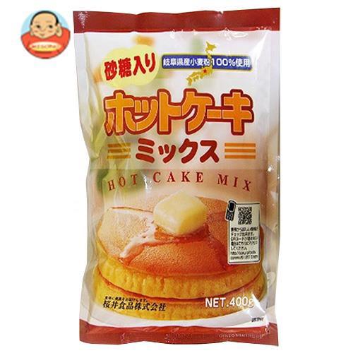 送料無料 桜井食品 ホットケーキミックス・有糖 400g×20袋入
