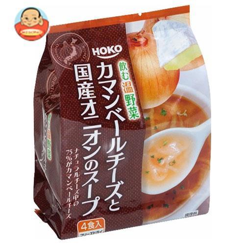 送料無料 宝幸 カマンベールチーズと国産オニオンのスープ 4食入り 32g×12袋入