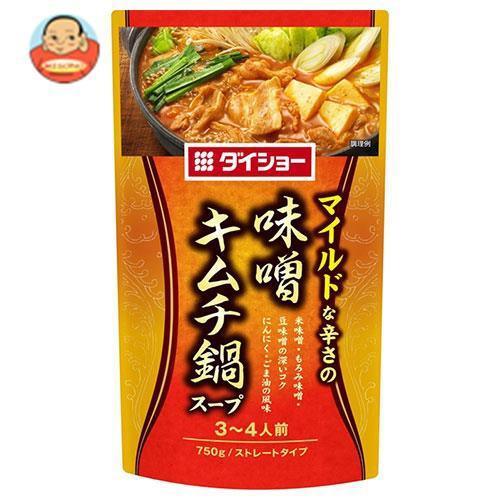 送料無料 ダイショー 味噌キムチ鍋スープ 750g×10袋入