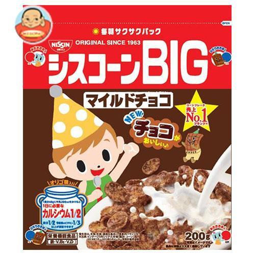 送料無料 【2ケースセット】日清シスコ シスコーンBIG マイルドチョコ 200g×6袋入×(2ケース)