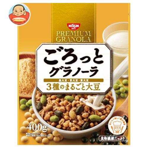 送料無料 日清シスコ ごろっとグラノーラ 3種のまるごと大豆 400g×6袋入