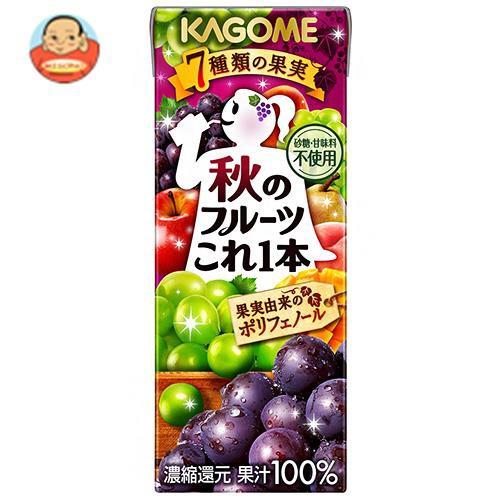送料無料 【2ケースセット】カゴメ 秋のフルーツこれ一本 200ml紙パック×24本入×(2ケース)