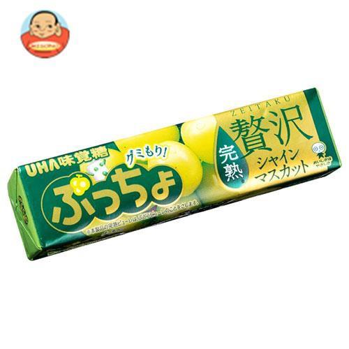 送料無料 UHA味覚糖 ぷっちょスティック 贅沢シャインマスカット 10粒×10個入