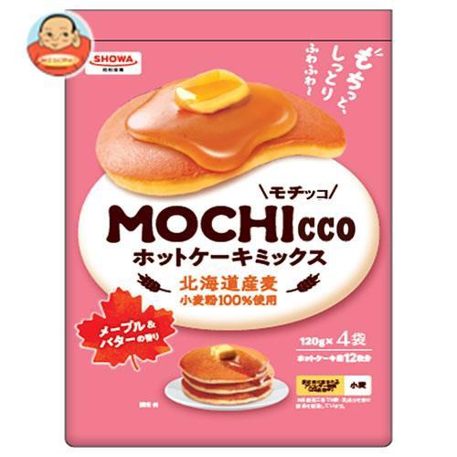送料無料 【2ケースセット】昭和産業 MOCHIcco(モチッコ) ホットケーキミックス 480g(120g×4袋)×6箱入×(2ケース)