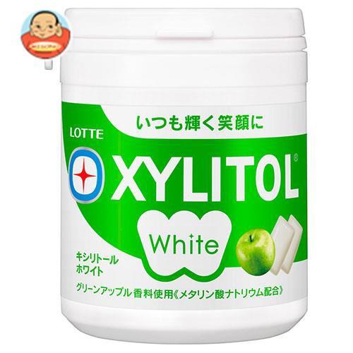 送料無料 ロッテ キシリトールホワイト グリーンアップル ファミリーボトル 143g×6個入