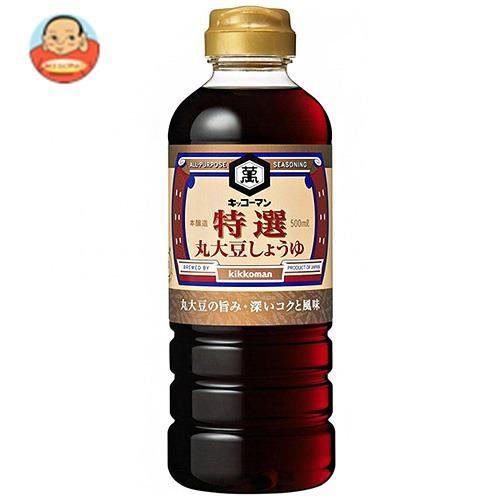 送料無料 【2ケースセット】キッコーマン 特選丸大豆しょうゆ 500mlペットボトル×12本入×(2ケース)