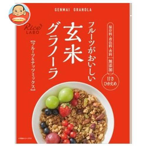 送料無料 【2ケースセット】幸福米穀 玄米グラノーラ フルーツ&ナッツミックス 250g×15袋入×(2ケース)