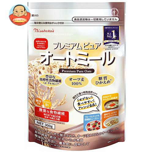 送料無料 日本食品製造 日食 プレミアム ピュアオートミール 300g×4袋入