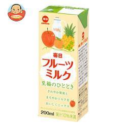 送料無料 毎日牛乳 毎日フルーツミルク 200ml紙パック×24本入