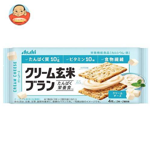 送料無料 【2ケースセット】アサヒフード クリーム玄米ブラン クリームチーズ 72g×6袋入×(2ケース)