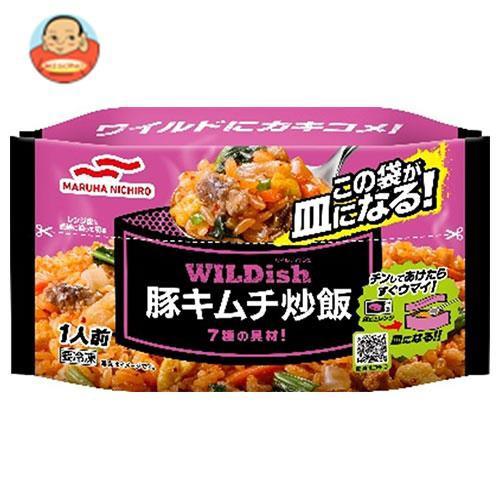 送料無料 【冷凍商品】マルハニチロ WILDish 豚キムチ炒飯 270g×16袋入