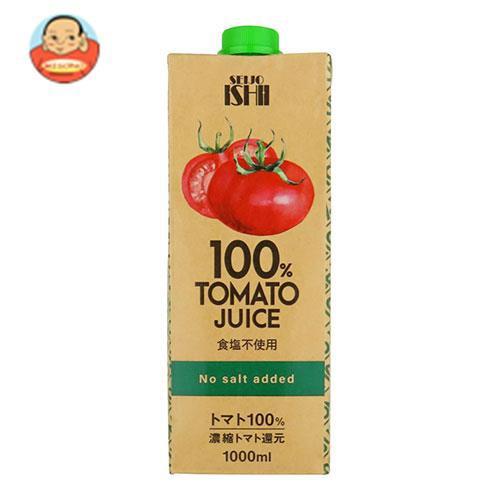 送料無料 【2ケースセット】成城石井 トマトジュース 食塩不使用 (濃縮還元) 1000ml紙パック×12本入×(2ケース)