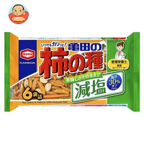送料無料 亀田製菓 減塩亀田の柿の種 6袋詰 173g×12袋入