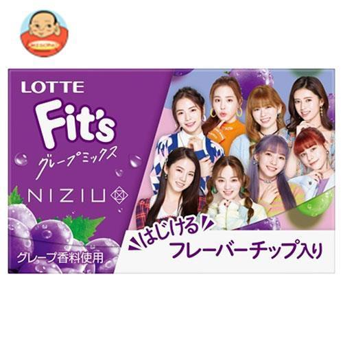 送料無料 ロッテ Fit's グレープミックス 12枚×10個入