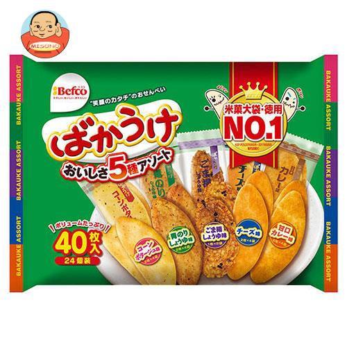 【送料無料・メーカー/問屋直送品・代引不可】栗山米菓 ばかうけアソート 40枚×10袋入