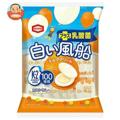 【送料無料・メーカー/問屋直送品・代引不可】亀田製菓 白い風船ミルククリーム 18枚×12袋入