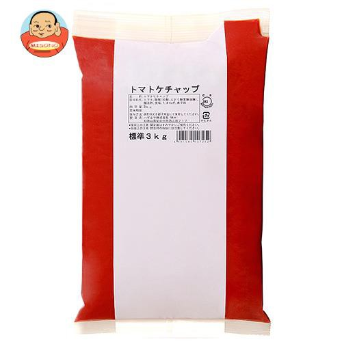 送料無料 【2ケースセット】ハグルマ JAS標準 トマトケチャップ 3kg袋パック×4袋入×(2ケース)