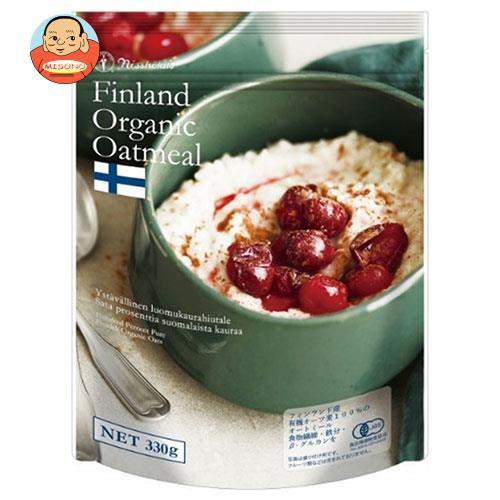 送料無料 【2ケースセット】日本食品製造 日食 フィンランド産 オーガニック オートミール 330g×4袋入×(2ケース)