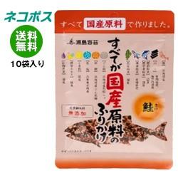【全国送料無料】【ネコポス】日本海水 浦島海苔 すべてが国産原料のふりかけ 鮭 28g×10袋入