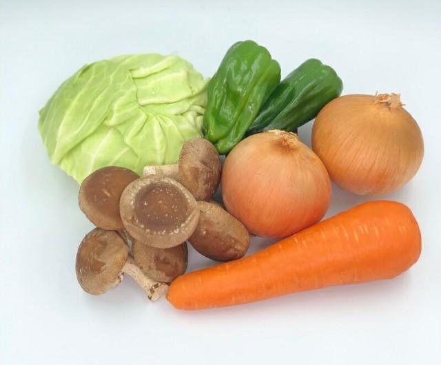 焼き野菜セット (玉ねぎ2個・ピーマン2個・人参1本・しいたけ1pc・キャベツ4分の1)北海道 野菜 キャンプ レジャー BBQ